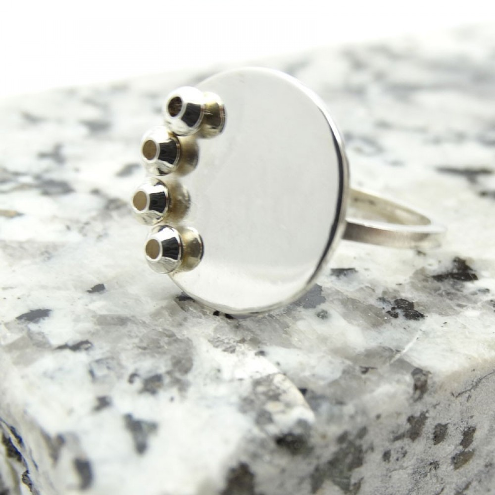 Sterling silver ring Summer Cool