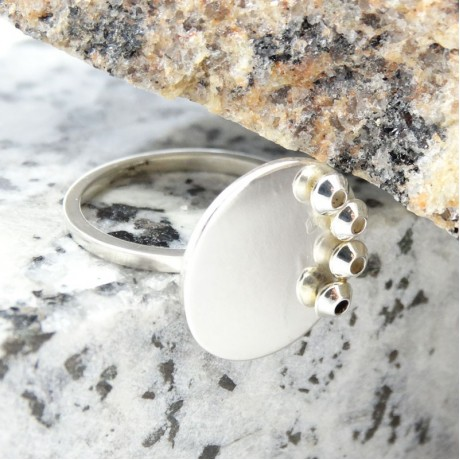 Sterling silver ring Summer Cool, Bijuterii de argint lucrate manual, handmade