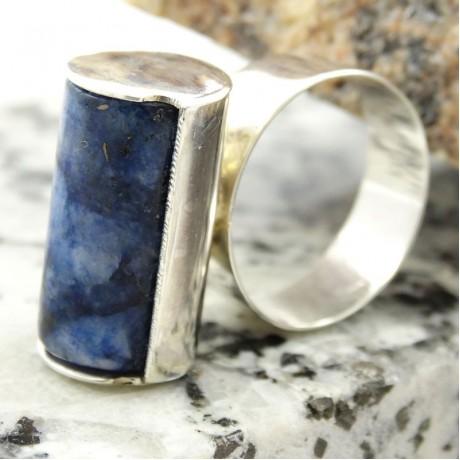 Sterling silver Stretch of Blues, Bijuterii de argint lucrate manual, handmade