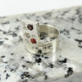 Sterling silver ring Constellation
