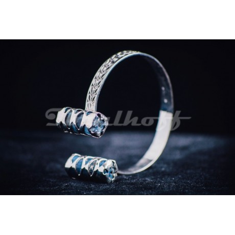 Sterling silver ring with lapislazuli, Bijuterii de argint lucrate manual, handmade