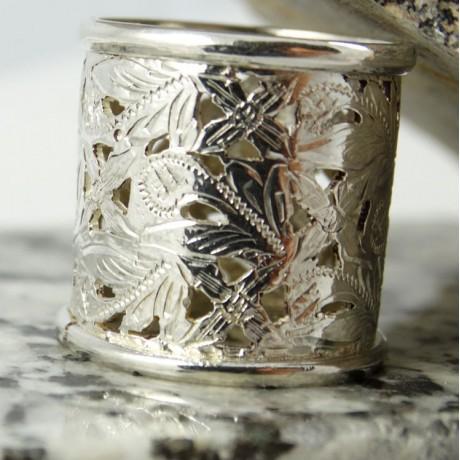 Sterling silver ring Summer Shape, Bijuterii de argint lucrate manual, handmade
