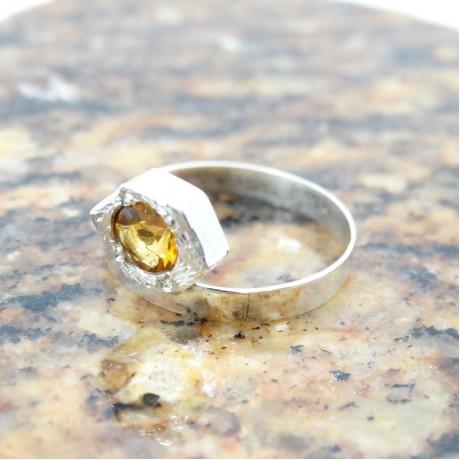 Sterling silver ring Lumiere Magique, Bijuterii de argint lucrate manual, handmade