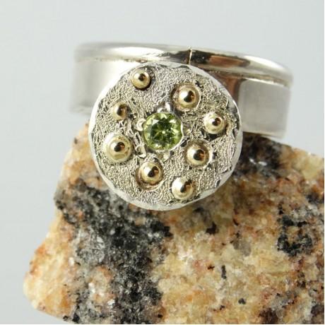 Sterling silver ring Summer Season, Bijuterii de argint lucrate manual, handmade