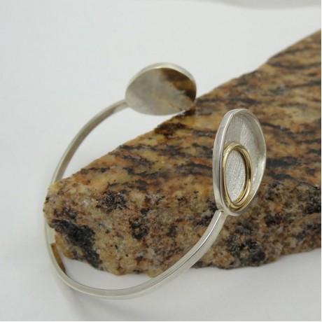 Sterling silver bracelet Velvet Nights, Bijuterii de argint lucrate manual, handmade