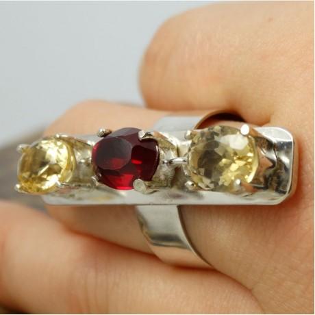 Sterling silver ring Summerishness, Bijuterii de argint lucrate manual, handmade