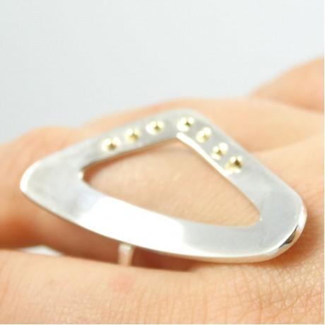 Sterling silver ring L'Art du Seduire, Bijuterii de argint lucrate manual, handmade