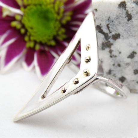 Sterling silver ring Summer Temper, Bijuterii de argint lucrate manual, handmade