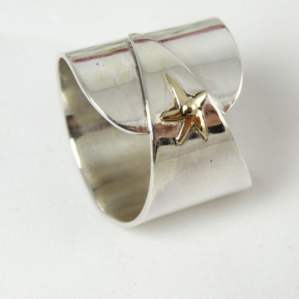 Sterling silver ring Good Auspices