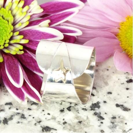 Sterling silver ring Good Auspices, Bijuterii de argint lucrate manual, handmade