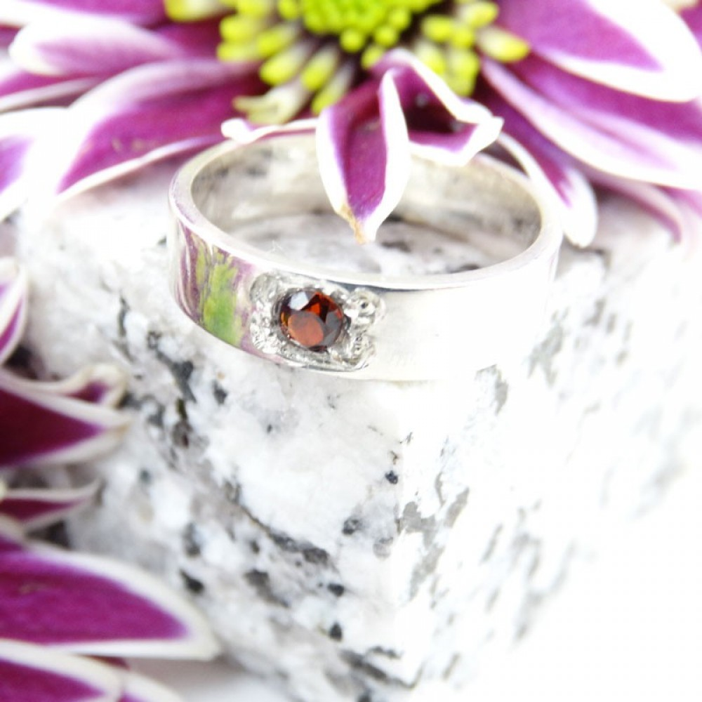Sterling silver ring Committed