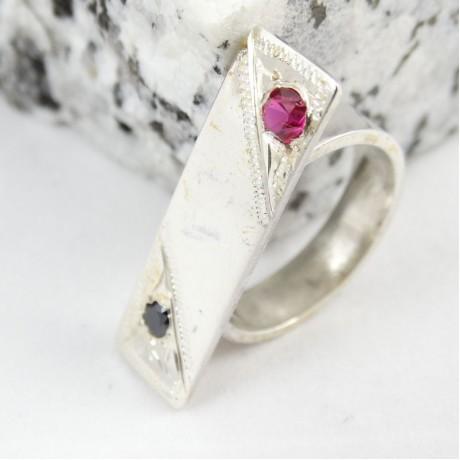 Sterling silver ring Spread of Silver, Bijuterii de argint lucrate manual, handmade