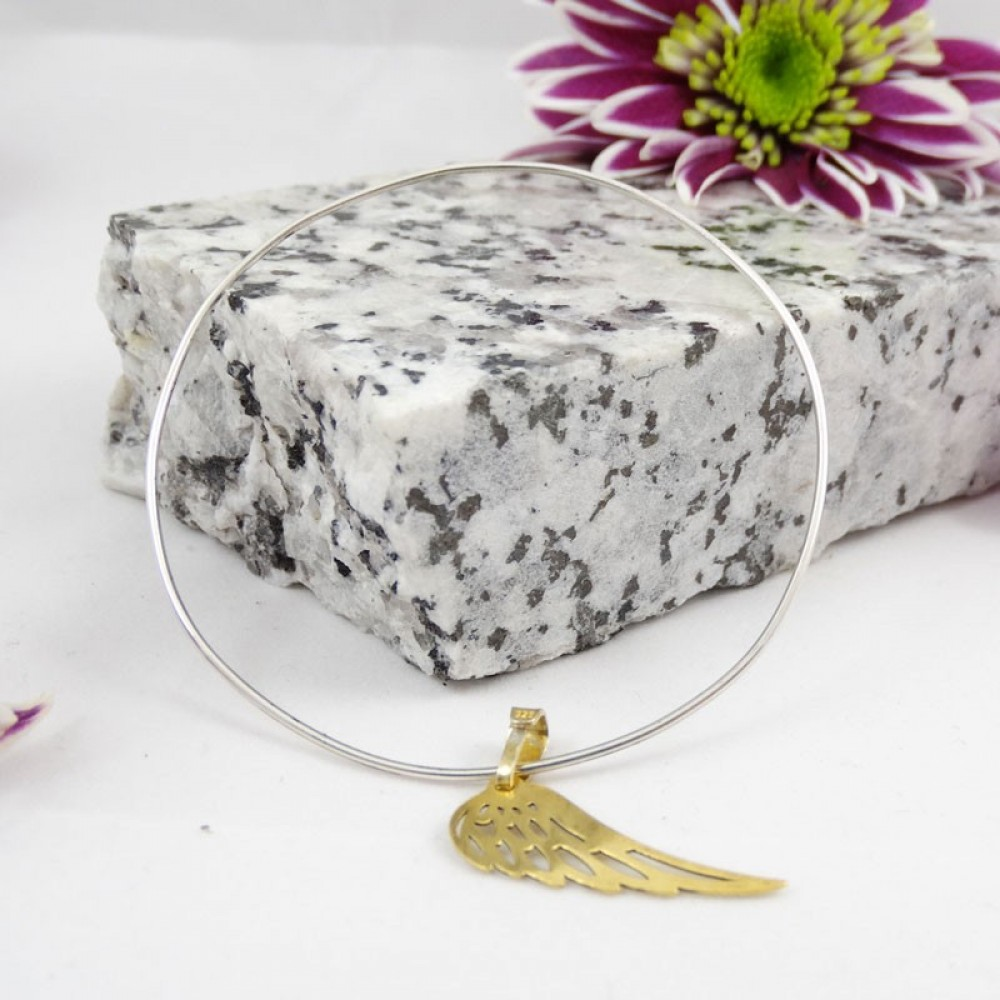 Sterling silver bracelet Winged