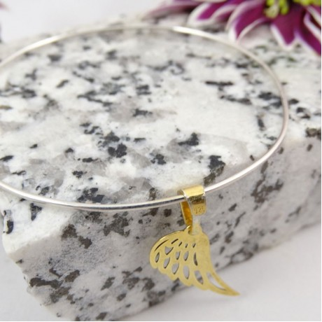 Sterling silver bracelet Winged, Bijuterii de argint lucrate manual, handmade