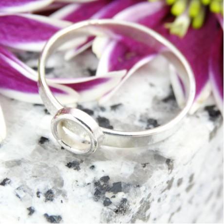 Sterling silver ring Circle, Bijuterii de argint lucrate manual, handmade