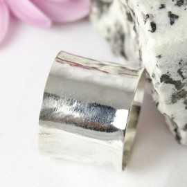 Sterling silver ring Silver Tube
