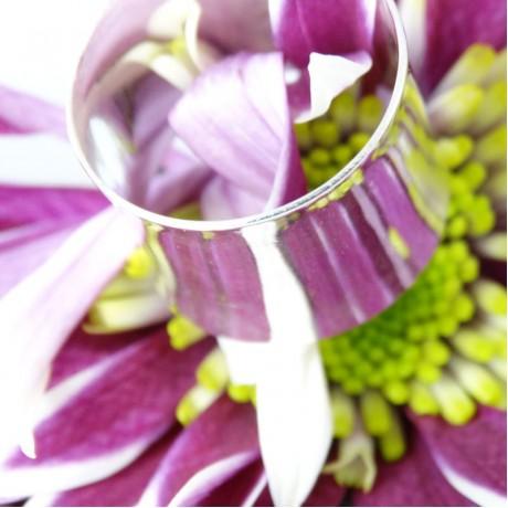 Sterling silver ring Silver Tube, Bijuterii de argint lucrate manual, handmade