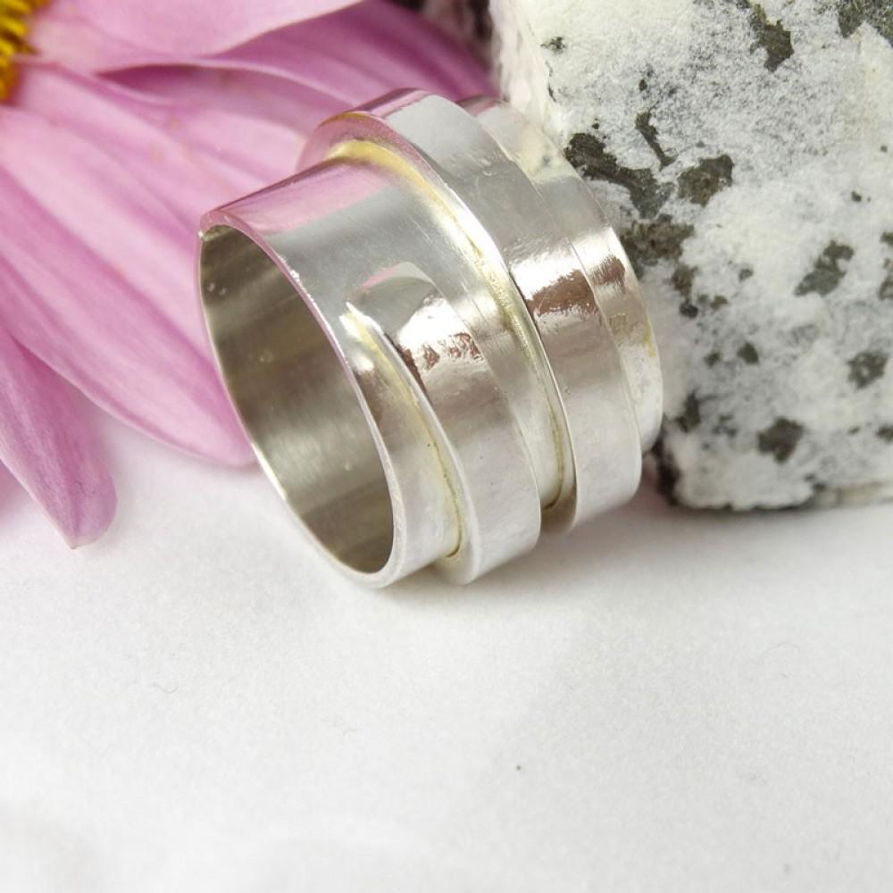 Sterling silver ring Vortex