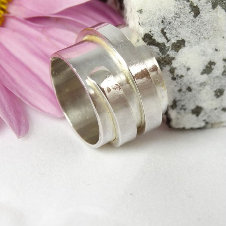 Sterling silver ring Vortex, Bijuterii de argint lucrate manual, handmade