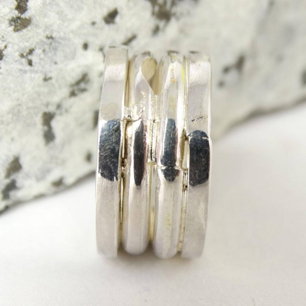 Sterling silver ring Overlap