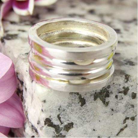 Sterling silver ring Overlap, Bijuterii de argint lucrate manual, handmade