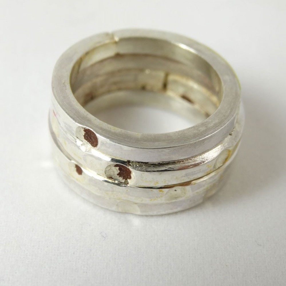 Sterling silver ring Over Wrap