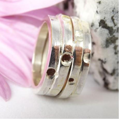 Sterling silver ring Over Wrap, Bijuterii de argint lucrate manual, handmade