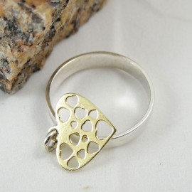 Sterling silver ring Tickles