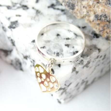 Sterling silver ring Tickles, Bijuterii de argint lucrate manual, handmade