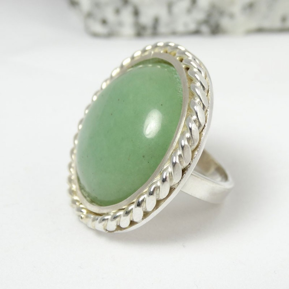 Sterling silver ring Fields of Greenies