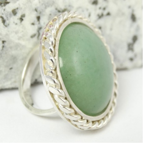 Sterling silver ring Fields of Greenies, Bijuterii de argint lucrate manual, handmade