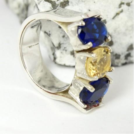 Sterling silver ring Duchess, Bijuterii de argint lucrate manual, handmade
