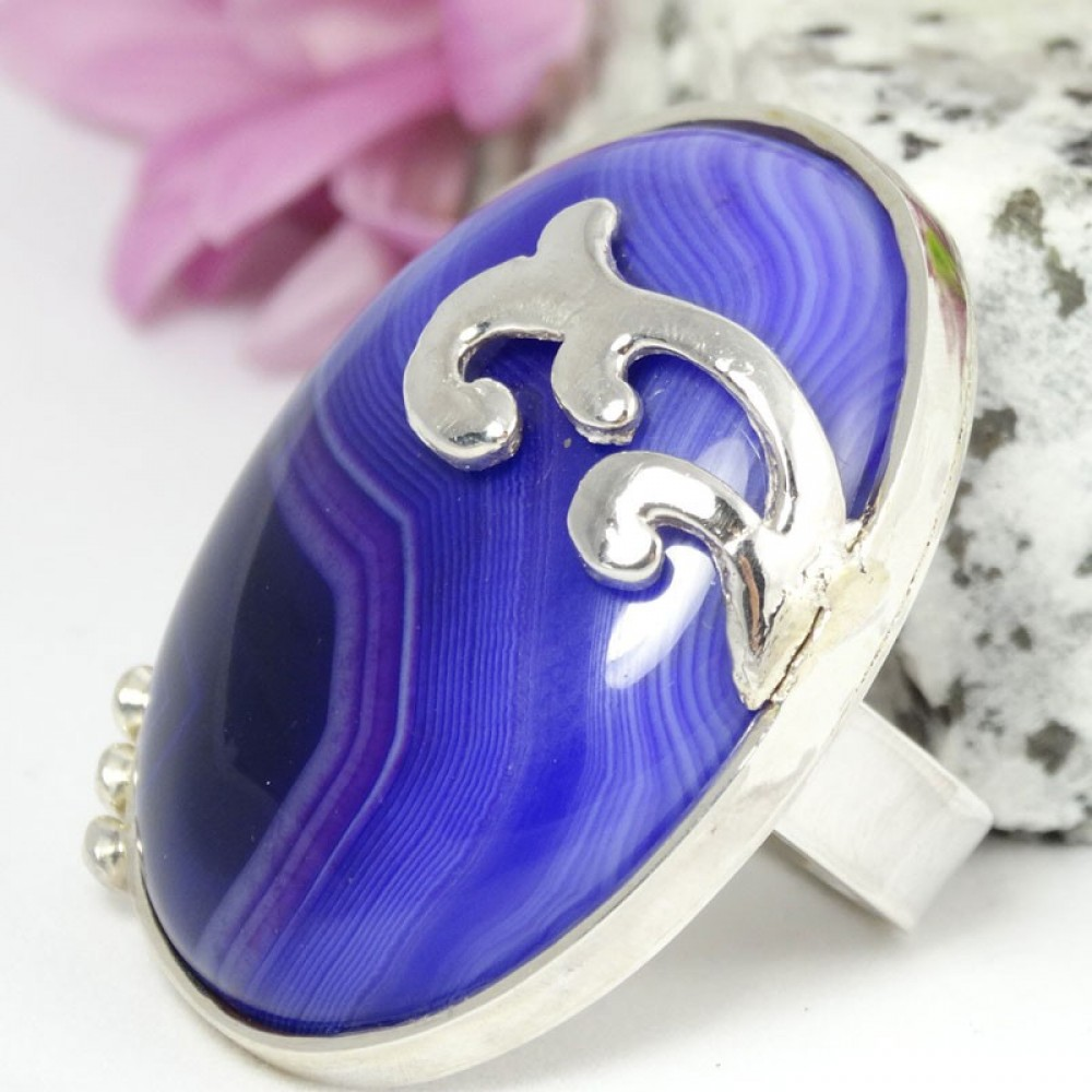 Sterling silver ring Autumn Glories