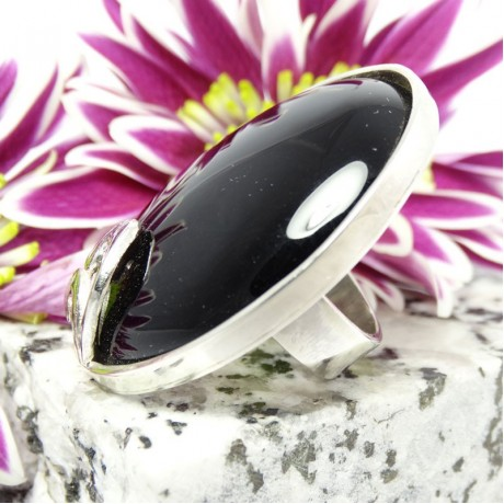 Sterling silver ring Carmina Nera, Bijuterii de argint lucrate manual, handmade