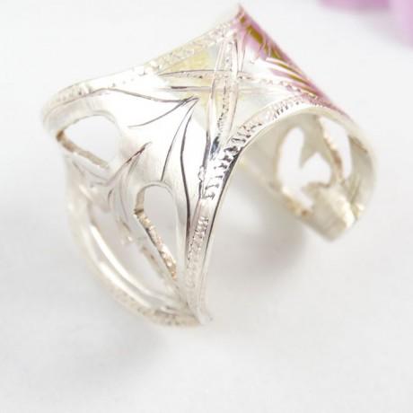 Sterling silver ring Serena, Bijuterii de argint lucrate manual, handmade