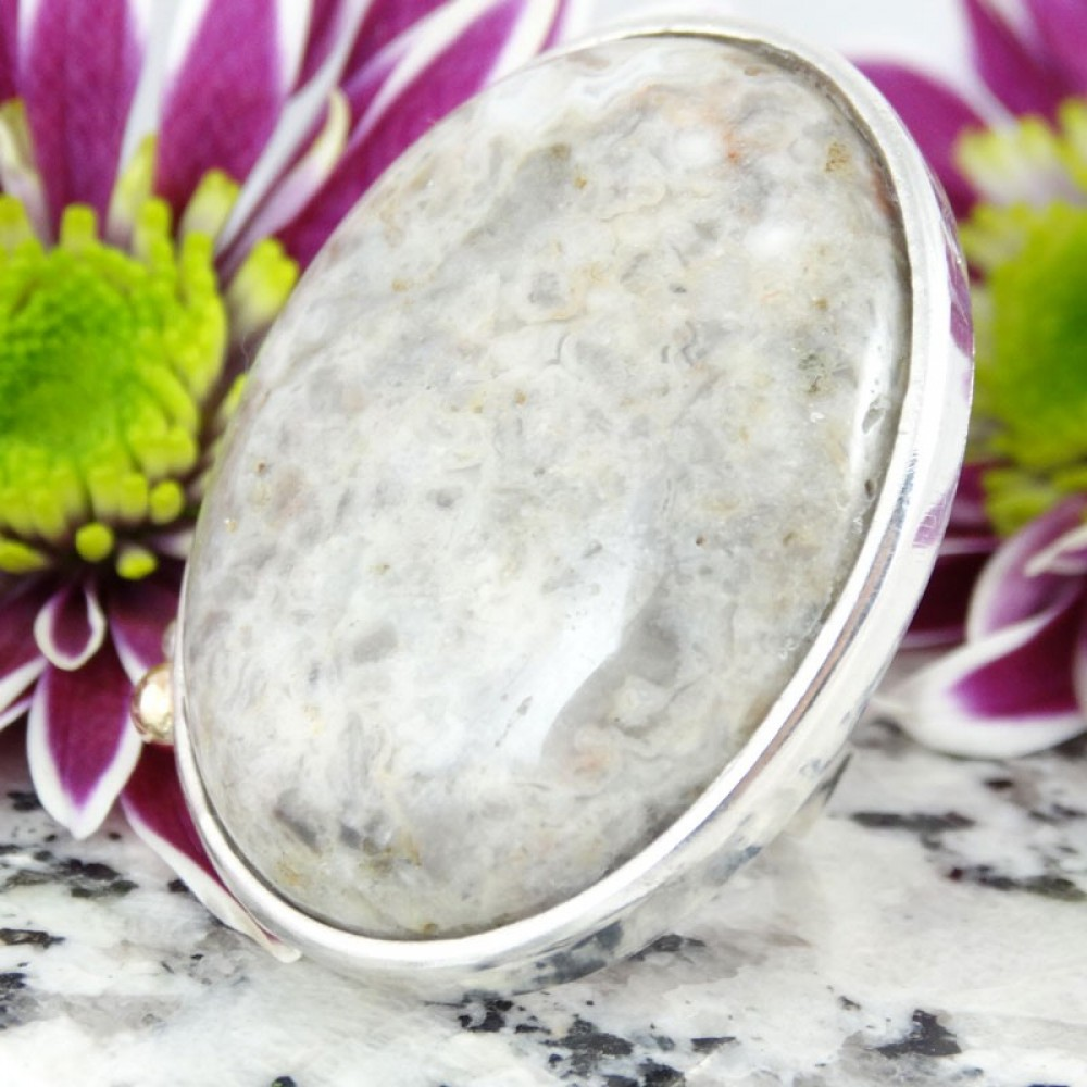 Large sterling silver ring Insularia