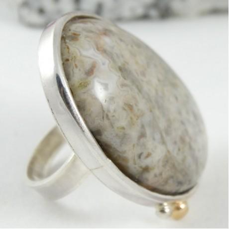 Large sterling silver ring Insularia, Bijuterii de argint lucrate manual, handmade