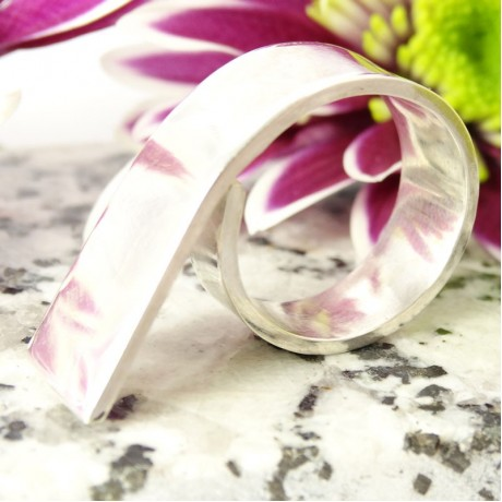 Massive sterling silver ring Emergence, Bijuterii de argint lucrate manual, handmade