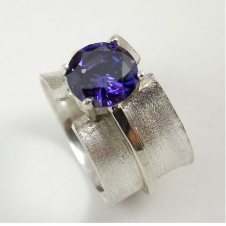 Sterling silver ring Matiere sensuelle, Bijuterii de argint lucrate manual, handmade