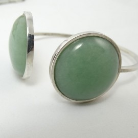 Sterling silver bracelet Lush Green Overgrowth