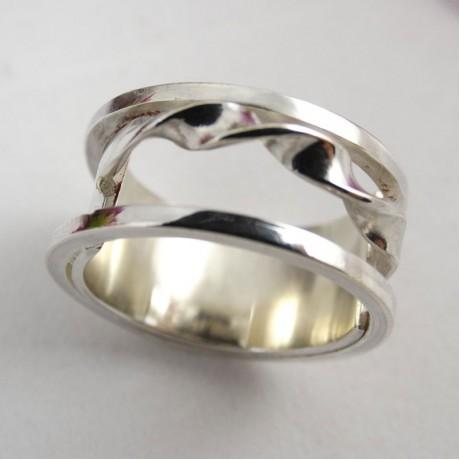 Sterling silver ring Spiral, Bijuterii de argint lucrate manual, handmade