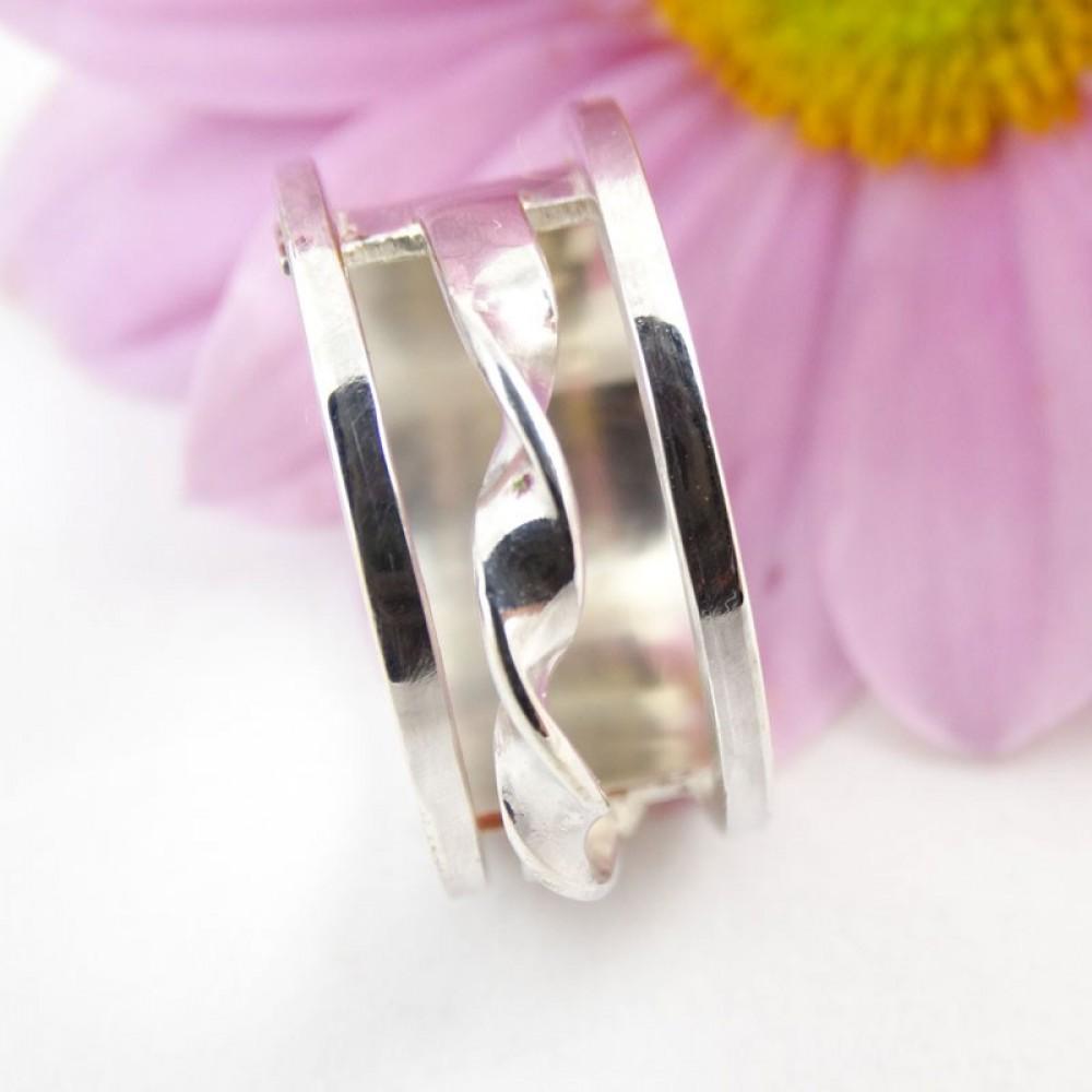 Sterling silver ring Spiral