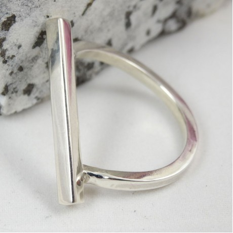 Sterling silver ring Borghese, Bijuterii de argint lucrate manual, handmade