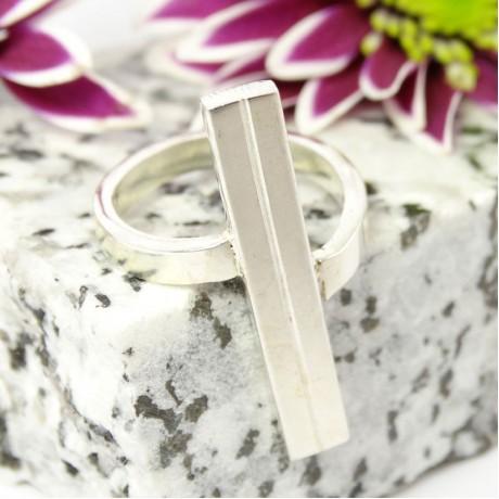 Sterling silver ring Sigillarium, Bijuterii de argint lucrate manual, handmade