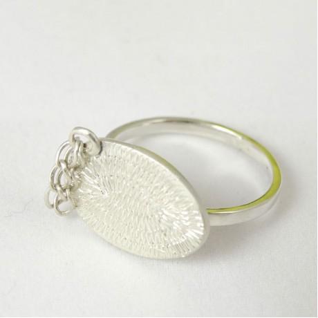 Sterling silver ring Streams, Bijuterii de argint lucrate manual, handmade