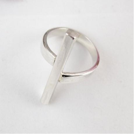 Sterling silver ring Connectivity, Bijuterii de argint lucrate manual, handmade