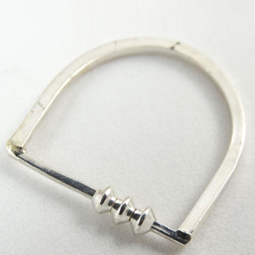 Sterling silver ring Brisk Tempo