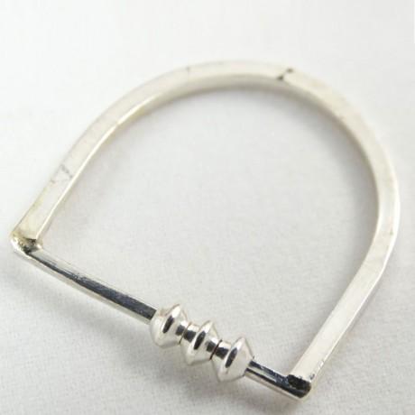 Sterling silver ring Brisk Tempo, Bijuterii de argint lucrate manual, handmade