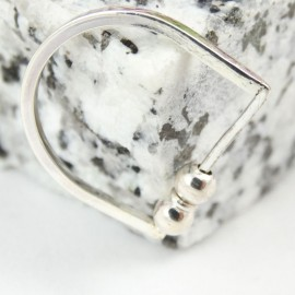 Sterling silver ring Solitarium