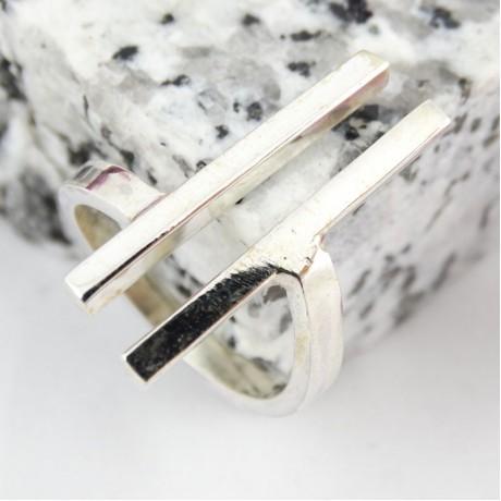 Sterling silver ring Uplifted, Bijuterii de argint lucrate manual, handmade